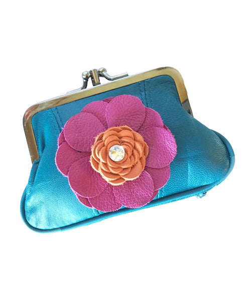Coin purse denim blue - LoveCrazy Designs