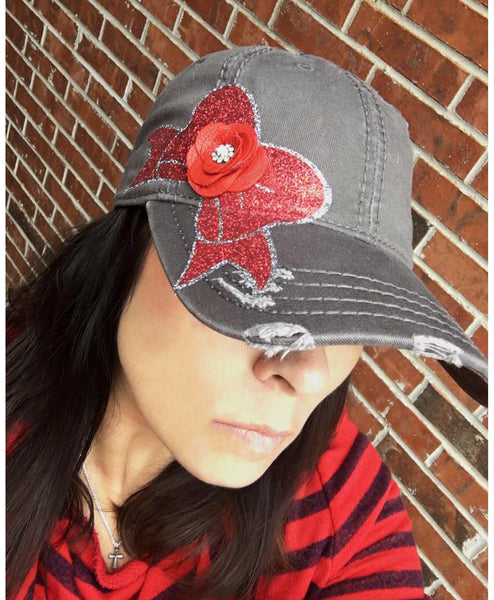 Baseball Hat - Bow - LoveCrazy Designs