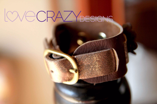 Brooklyn Leather Cuff - LoveCrazy Designs