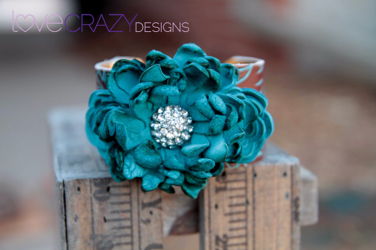 Sophia Flower Cuff - LoveCrazy Designs