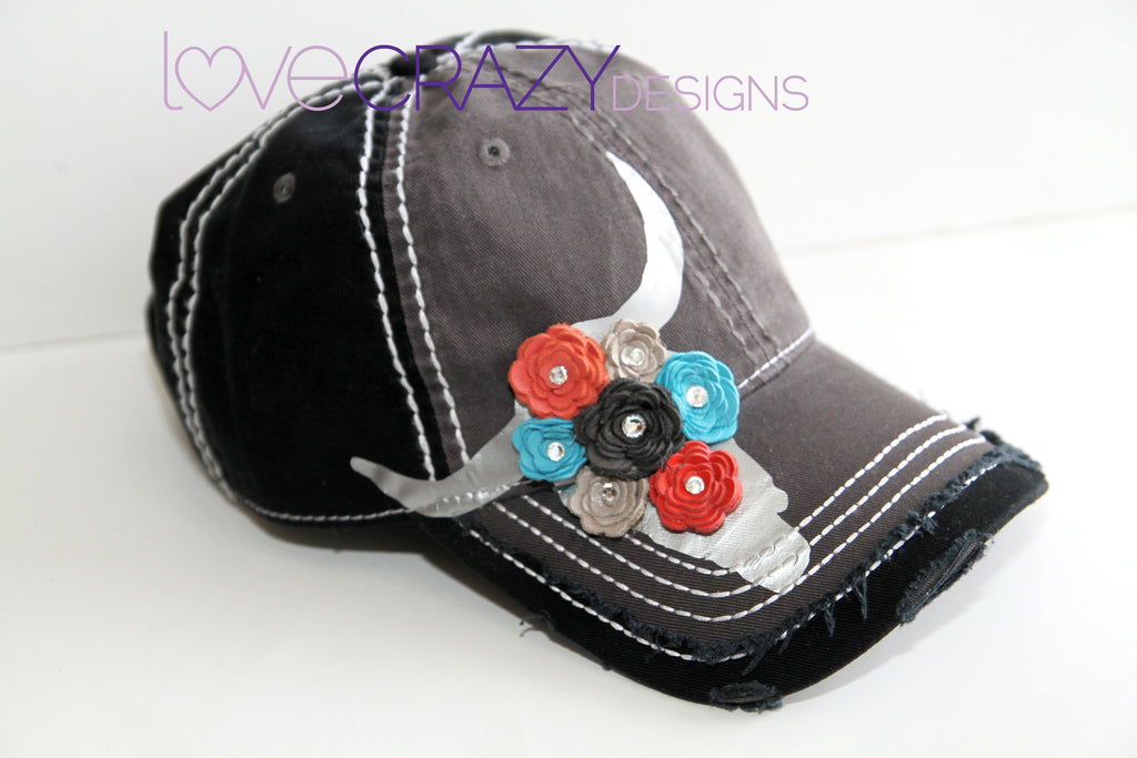 Baseball Hat, Skull Hat - LoveCrazy Designs