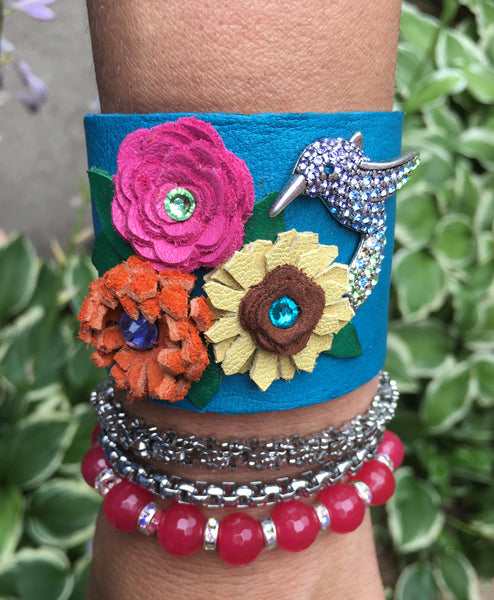 Hummingbird Cuff - LoveCrazy Designs
