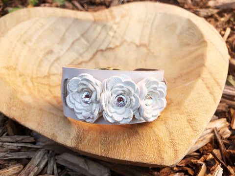 Brooklyn Flower Cuff - LoveCrazy Designs