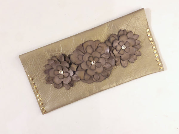 Leather Clutch - LoveCrazy Designs