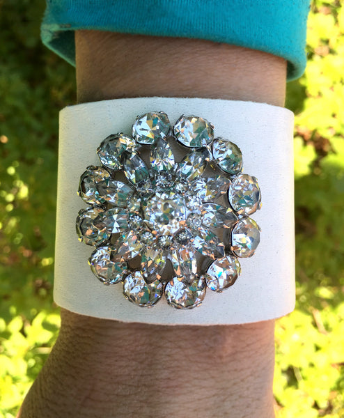Vintage Brooch Cuff - LoveCrazy Designs