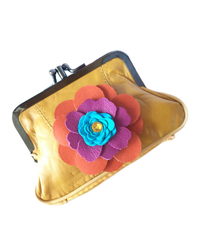 Coin purse yellow - LoveCrazy Designs