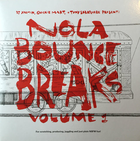 "Nola Bounce Breaks Vol. 1 - 7"" Red Clear Vinyl"