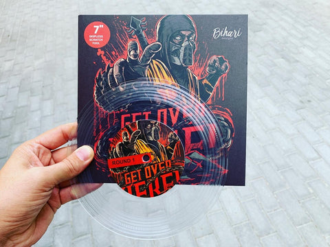 "Bihari - Get Over Here 7"" Clear Vinyl"