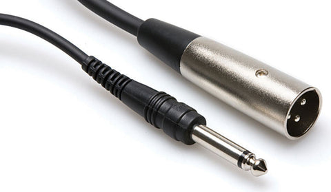 "Hosa PXM-120 1/4"" TS to XLR3M, 20FT"