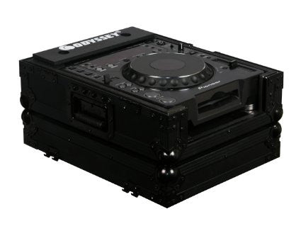 Odyssey FZCDJBL Flight Zone ATA Case For A Single Large Format Cd Player - Black