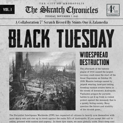 "Black Tuesday / Skratch Chronicles 7"" Vol. 1"