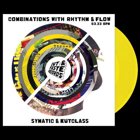 "Cut & Paste Records - Combinations with Rhythm and Flow 7"" Yellow Vinyl (CNP003)"