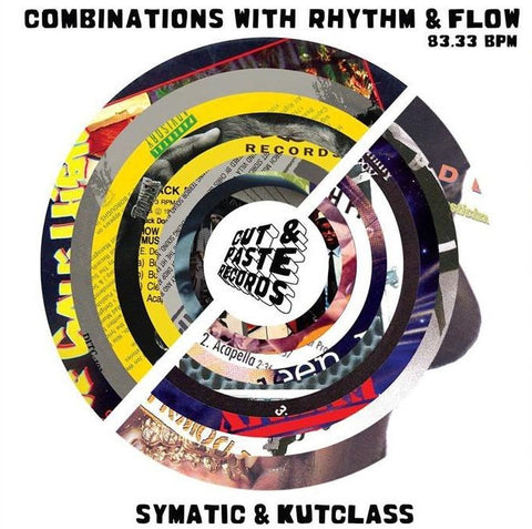 "Cut & Paste Records - Combinations with Rhythm and Flow 7"" Red Vinyl (CNP003)"