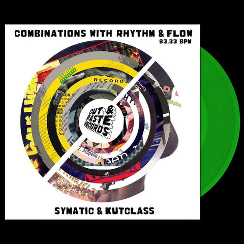 "Cut & Paste Records - Combinations with Rhythm and Flow 7"" Astro Green Vinyl (CNP003)"