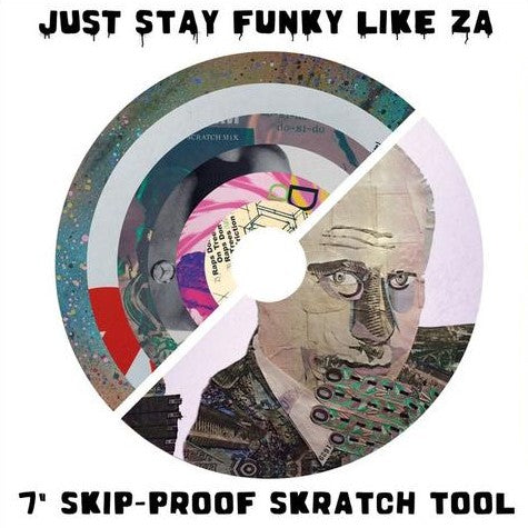 "Cut & Paste Records - Just Stay Funky Like Za - 7"" Pink Vinyl"