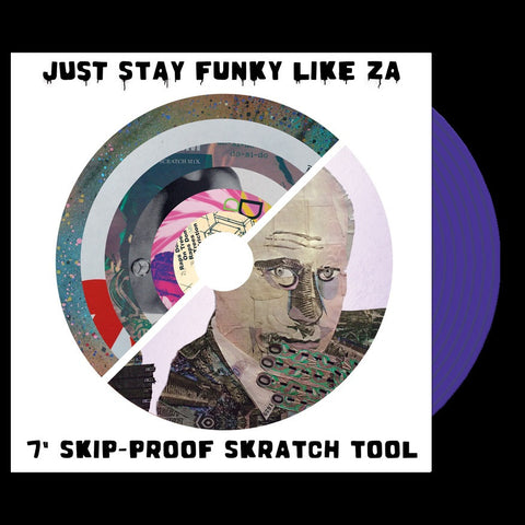 "Cut & Paste Records - 7"" CNP006 ""Just Stay Funky Like Za"" Purple Silk"