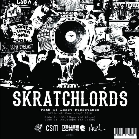 "NickNack Soundcraftsman Vol. 2 7"" Scratch Vinyl"