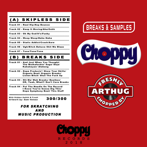 "DJ Arthug -  Choppy Breaks & Samples 7"" Vinyl"