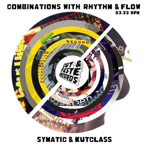 "Cut & Paste Records - Combinations with Rhythm and Flow 7"" Black Vinyl (CNP003)"