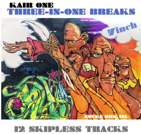 "Three-in-One Breaks 7"" Vinyl by KAIR ONE"