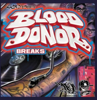 "Blood Donor Breaks 7"" White Vinyl - KAIR ONE"