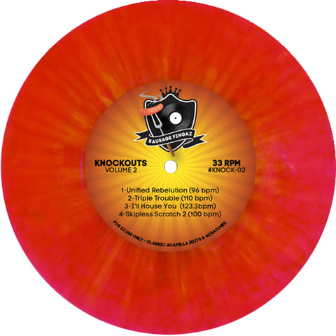 "Sausage Fingaz - Knockouts Vol 2 - 7"" Red Vinyl"