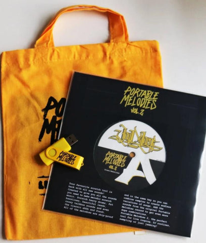 "Jay DeLarge - Portable Melodies Vol. 2 7"" Yellow Vinyl - Limited Edition Package"