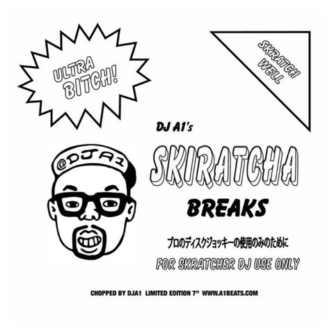 "DJ A1 - Skiratcha Breaks - 7"" Vinyl - Black"