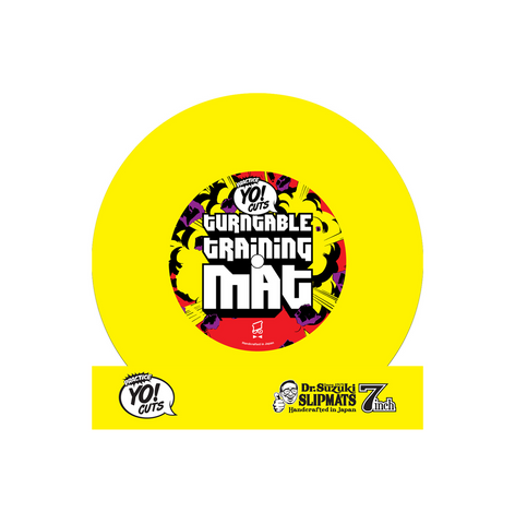 TTM7Y - Yellow Dr Suzuki Turntable Training Mat 7 inch slipmat