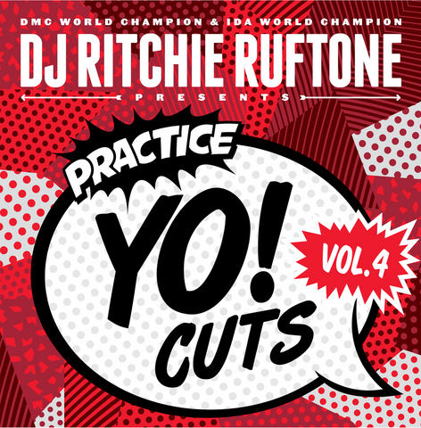 Turntable Training Wax: TTW007 - Practice Yo! Cuts 12 inch Vol. 4  (Red LP)