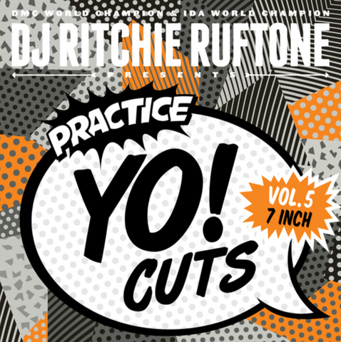 "Turntable Training Wax:  TTW008 - Practice Yo! Cuts 7"" Grey Vol. 5"