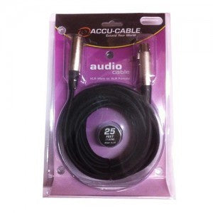 Accu-Cable XL-25 25 Ft XLR Male to XLR Female