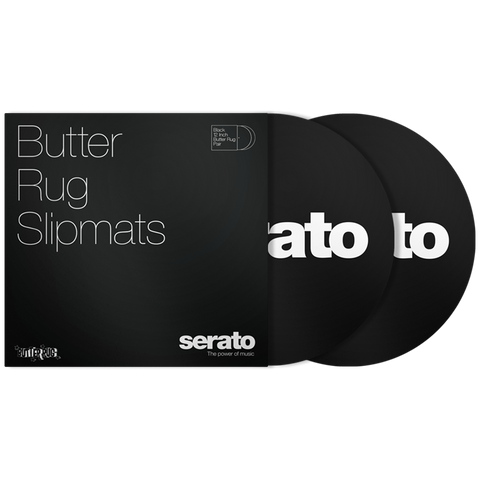 Serato Official Butter Rug Slipmats (Black)
