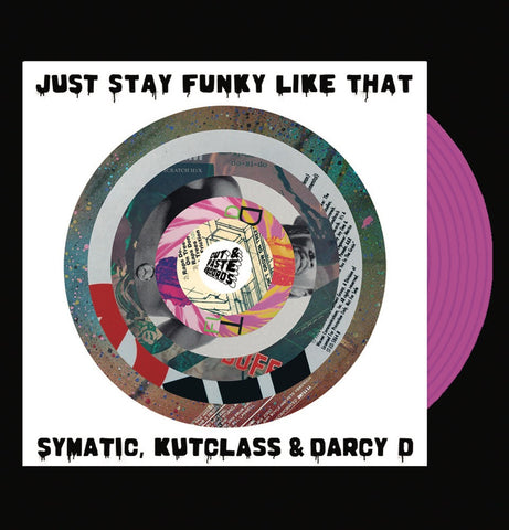 "Cut & Paste Records - Just Stay Funky Like Za - 7"" Pink Vinyl (CNP006)"