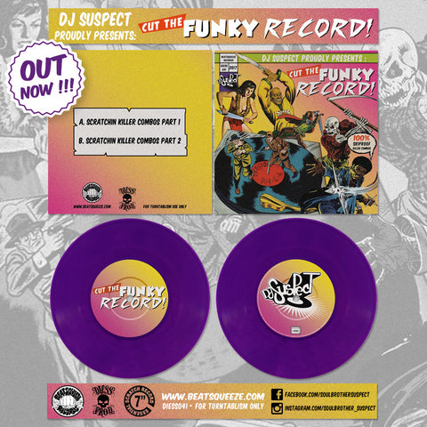 "DJ Suspect - Cut The Funky Record - 7"" Purple Vinyl"
