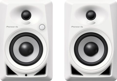Pioneer DM-40-W White 4-Inch Compact Active Monitor Speaker (Pair)
