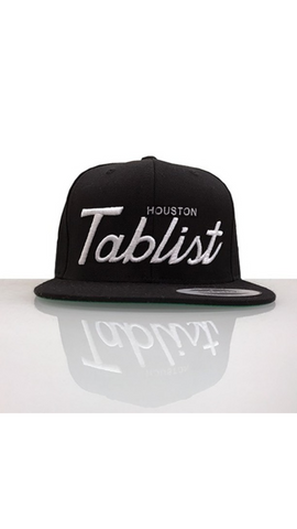 Houston Tablist Snapback - Black/White
