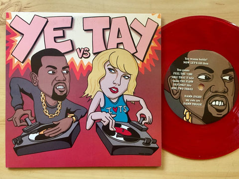 "YE vs TAY 7"" Red Vinyl - Mike C & AkikoLUV"