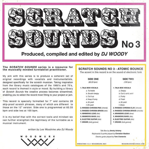 "DJ Woody - Scratch Sounds No. 3 - 7"" Pink Panther Vinyl"