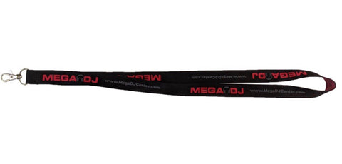 Mega DJ Center Landyard - Black/Red