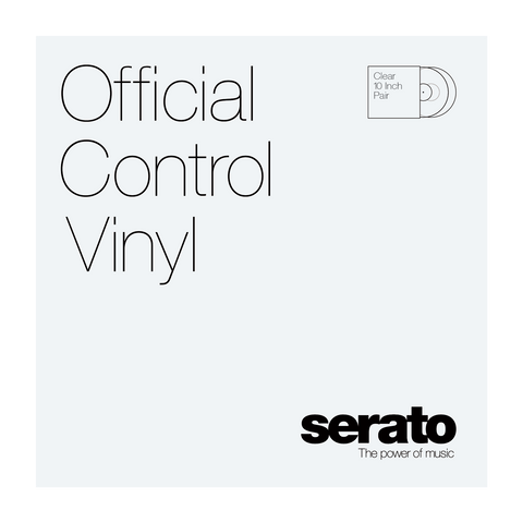 "Serato 10"" Clear Vinyl (Pair)"