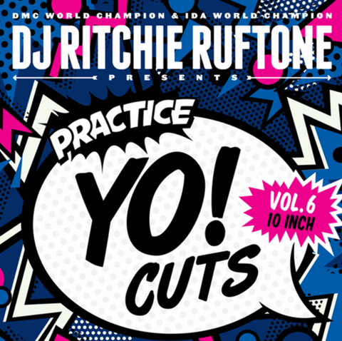 "Turntable Training Wax: TTW012 - Practice Yo! Cuts Vol.6 - 10"" Black Vinyl"
