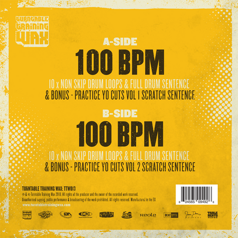 "Ultimate Drum Loops 12"" Yellow Vinyl - TTW013"