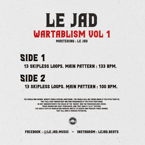 "LE JAD - Wartablism 12"" Red Vinyl"