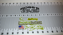 Custom Ross's Sport Shop Muskie Bumper Bump Boards.