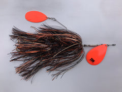 Double Nickle Single #10 Blade w/ #9 Kicker Bucktail