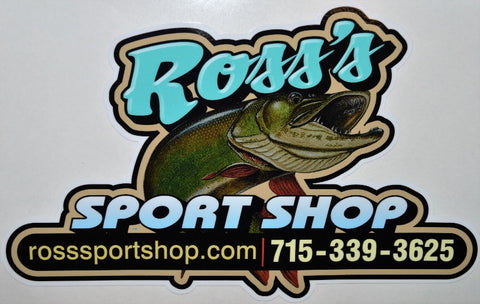 Ross's Sport Shop Musky Decal