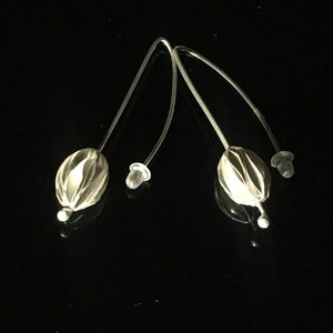 Nature pod drop earrings