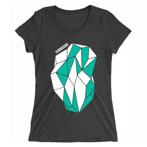 IMClimbing 2 Colour Boulder Design on Charcoal T-Shirt - Women