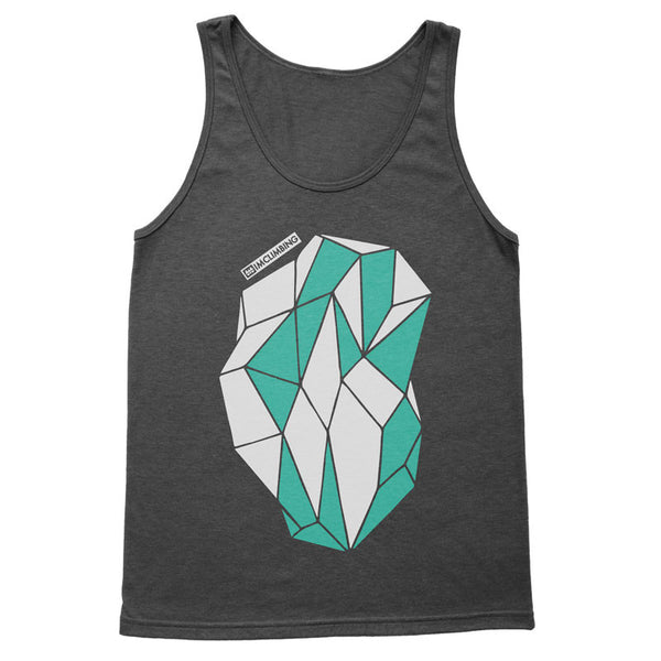 IMClimbing 2 Colour Boulder Design on Charcoal Tank Top - Men